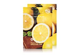 Lemon Facial Sheet Mask - Twin Pack