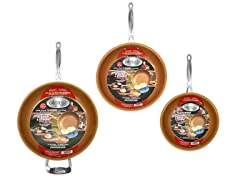 "Non-Stick 3Pc Pan Set 9.5"", 11"" & 12.5"""