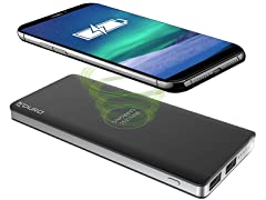 Aduro 8,000mAh Dual-USB Wireless Power Bank w/ Light