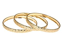 18kt Plated Diamond Cut Heat 3-Pack