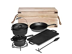 Bruntmor PreSeasoned 7 Piece Cast Iron  Set