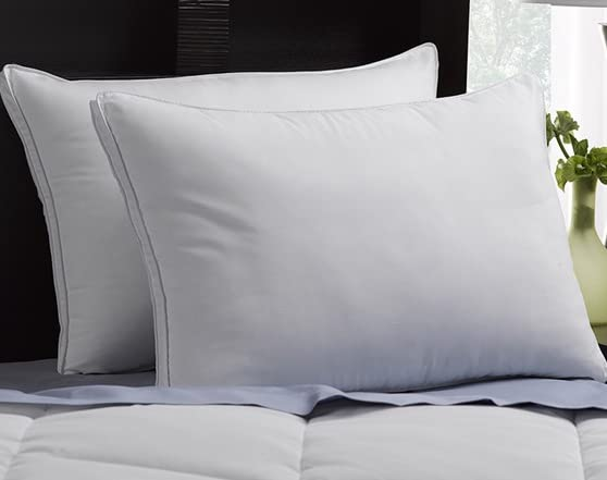 2 Pack Gusseted Microfiber Gel Pillow-2 Sizes