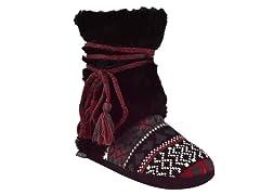 MUK LUKS® Classic Fur Wrap Boot, Black