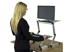 Uncaged Ergonomics Standing Desk Conversion Kit Silver