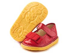 Patent Bow Mary Jane - Red