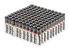 Energizer MAX Alkaline Batteries 100 Pack - AAA