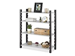 Adjustable 4-Tier Wood Shelving