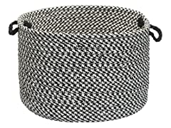 Houndstooth Storage Basket - Black  (2 Sizes)