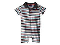 Knit Romper - Multi Stripe (0M-24M)
