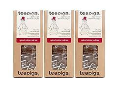 Tea Pigs Winter Red Tea, 3 Pack