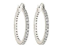18kt White Gold Plated Hoop Earrings