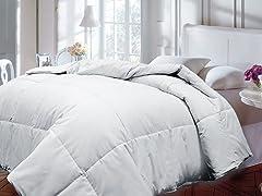 Down Alternative Comforter-White-2 Sizes