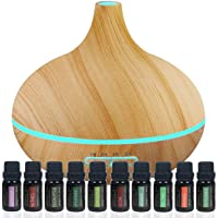 Pure Daily Care Aromatherapy Bundle w/ Ultrasonic Diffuser + 10 Pks Oils