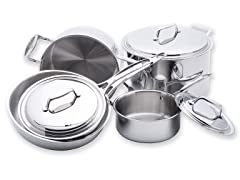 5-Ply Stainless Steel 8-Pc Cookware Set