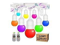 2-Pack 48FT Multi Color String Lights