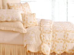 Wedding Ring Butter Full/Queen Quilt Set