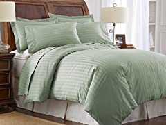 500TC Cotton Duvet Cover Set-Sea Foam-2 Sizes