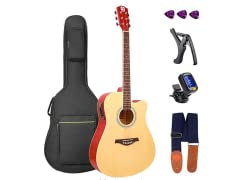 "Vangoa Electric Acoustic Guitar, 41"" Full-Size"