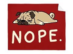 """""""Nope Dog"""" Mink Blanket"""