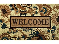 Isabelle Welcome Weather-Resistant Outdoor Coir Doormat
