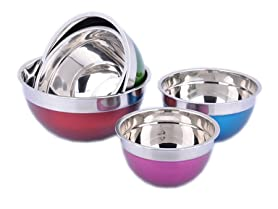 Koolulu 5-PC Stainless Steel Mixing Bowl Set