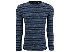 Kenneth Cole New York Men's Striped Henley Shirt