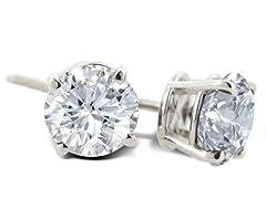 Natural Genuine Diamond Studs 3/4ct