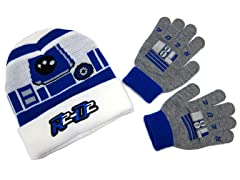 Kids R2-D2 Beanie & Gloves Set
