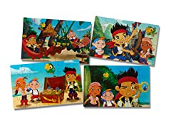 Jake and the Neverland Pirates 4 Wood Puzzles