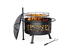Mecor 2-in-1 Outdoor Fire Pit