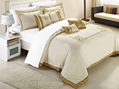 Athens 7 pc Embroidered Comforter Set