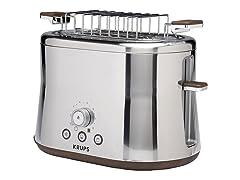 KRUPS 2-Slice Toaster w/Bun Warmer