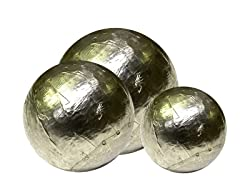Silver Orbs Set of 3