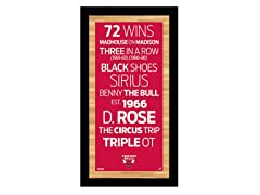 "Chicago Bulls 9.5"" x 19"" Sign"