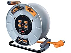 MasterPlug 1' Metal Extension Cord Reel (Lead Only)