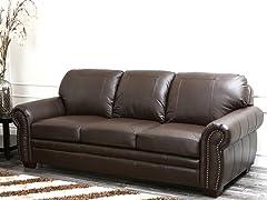 Karoza Leather Sofa