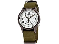 Timex MK1 Chrono Nylon Indiglo Mens Watch