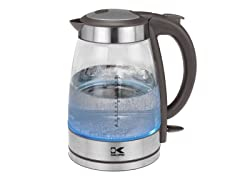 Grey Cordless Glass Jug Kettle