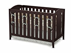 Crib and Toddler Bed - Espresso