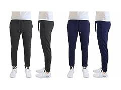 Men's Slim Fit Lounge Joggers 2-Pack