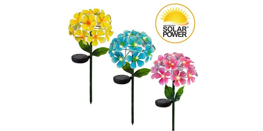 Touch of ECO Floralite Solar LED Metal Flower (Your Choice: Color and Pack Size)   WOOT