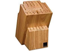 Ronco 20 Slot Knife Block, Honey Oak