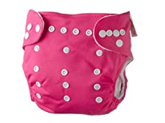Adjustable Cloth Diaper - Fuchsia