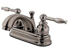 Knight Centerset Faucet, Vintage Nickel