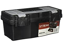 Stack-On PTB-12LS 12-Inch Plastic Tool Box