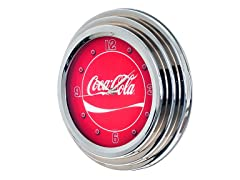 Clock with Chrome Finish