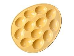"BIA Cordon Bleu 11"" Egg Plate Citrus"