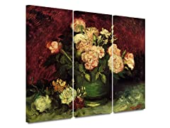 Vase of Flowers 3 piece set - 2 Sizes