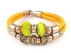 Murano Glass & Crystal Charm Bracelet