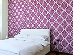 French Garden Damask Plum Tiles
